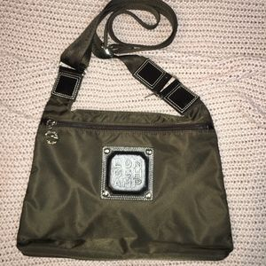 LONGCHAMPS NYLON W/LEATH CROSSBODY CHOC BROWN BAG
